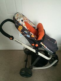Cosatto Giggle travel system - includes carry cot, pushchair and car seat