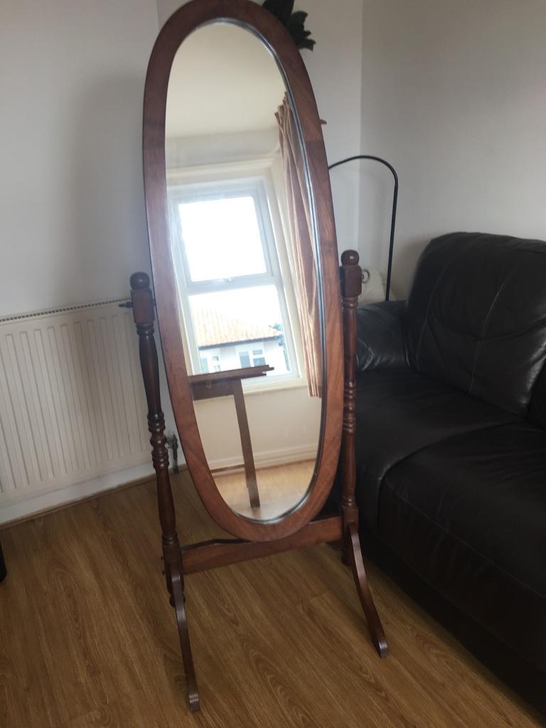 Full-length standing mirror
