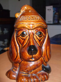 Fun dog cookie jar