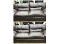 3 seater and 3 seater brown Original Leather sofa set