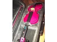 Fantasia violin - pink 1/4 size