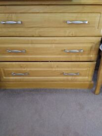 Very good used condition set of 3 drawers suitable for the bedroom.