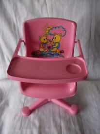 High chair for doll and soft toys