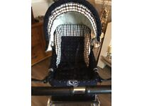 Silver cross originals pram,lovely strong chassis and from birth to toddler with footwell .