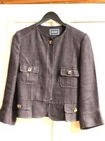 Hobbs woman jacket (linen mixed / purplish brown size 14)