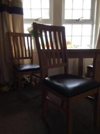 4 x oak chairs