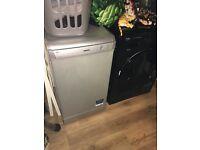 Beko silver slimline dishwasher
