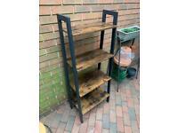 4 tier storage shelves ladder bookshelf industrial , collection only
