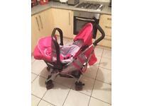 Koochi pushchair/stroller with car seat