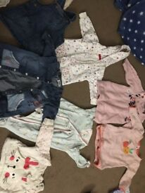 Bundle of baby girls clothes 0-3 month