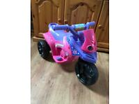 Fairy Princess 6v Electric Ride On Trike Excellent Condition