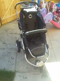 Icandy apple pram with carry cot and maxi cosy car seat