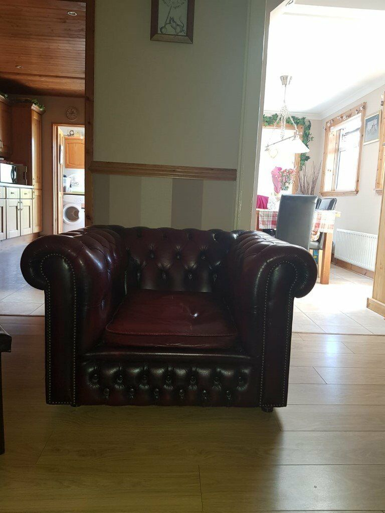 chesterfield 3 seater sofa and two chairs good condition in cambuslang glasgow gumtree. Black Bedroom Furniture Sets. Home Design Ideas