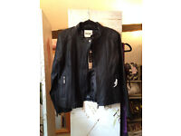 New York Laundry Black Leather Jacket - Size 14