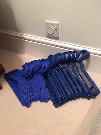 50 brand new blue kids coathangers