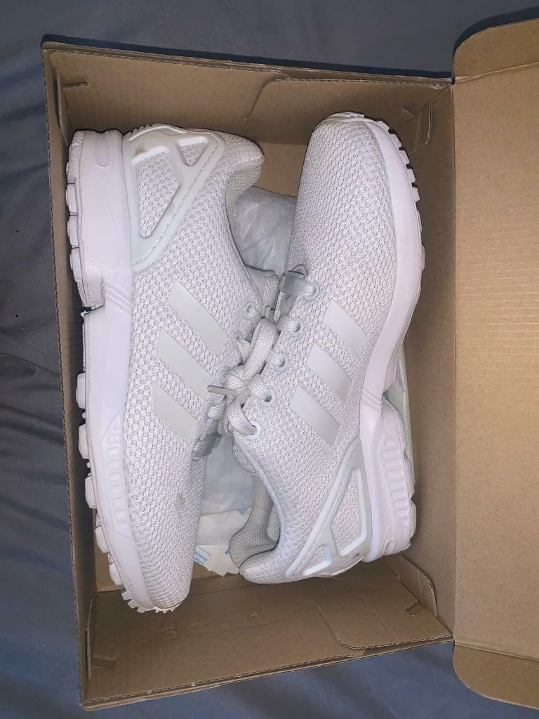 separation shoes 597c9 7c2ce White Adidas zx flux RRP £50 - worn only a couple times £18 | in  Kirkby-in-Ashfield, Nottinghamshire | Gumtree