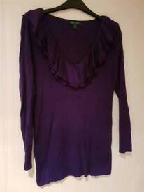 Ladies Brand New without Tags Lauren Ralph Lauren Lightweight Jumper - Size Large