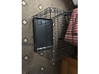 2 Dog Crates for sale 1 Small and 1 Medium. Almost new