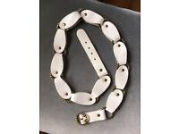 White leather belt / river island