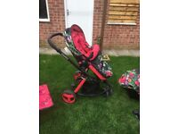 Cosatto Woop Tropico pushchair and car seat travel system