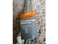 4 pce adjustable wrench set tools NEW