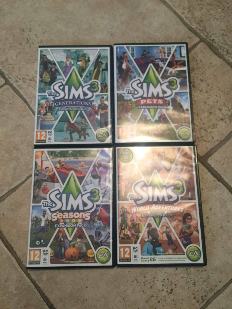 sims 3 expansion packs bundle