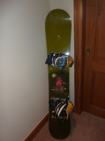 'A' Snowboard, K2 Soft Boots , K2 Magma Binding and Carry Case