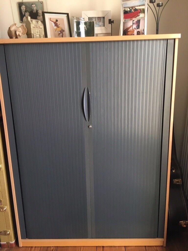 Large Office Roller Door Storage Cabinet