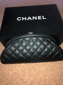 Genuine Chanel Caviar Clutch Bag