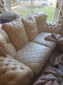 Real italian leather 3 seater