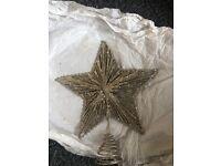 Christmas star tree topper NEW