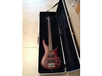 Bass Guitar Ibanez SGR500 Active Bass 4 string with Gator Hard Case