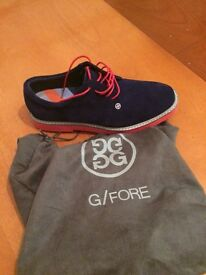 Men's size 7 G Fore gallivanter midnight blue and red shoes