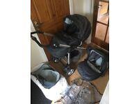 Silvercross 3D grey bubble pram pushchair travel system
