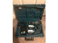 Ex display Makita HP457D 18v cordless hammer drill with 2 g-series battery's and charger boxed