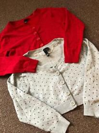 2 crop cardigans from h&m size 8