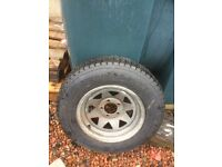 Spare wheel for American style trailer