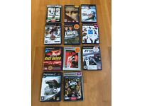 Job Lot 11 Playstation PS2 Games, some Platinum, Football, TOCA, tennis, cricket, driving, F1