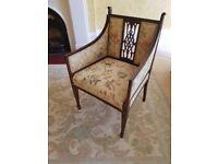 Edwardian George III style chair