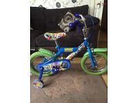 "Kids moshi monster bike 14"" wheel"