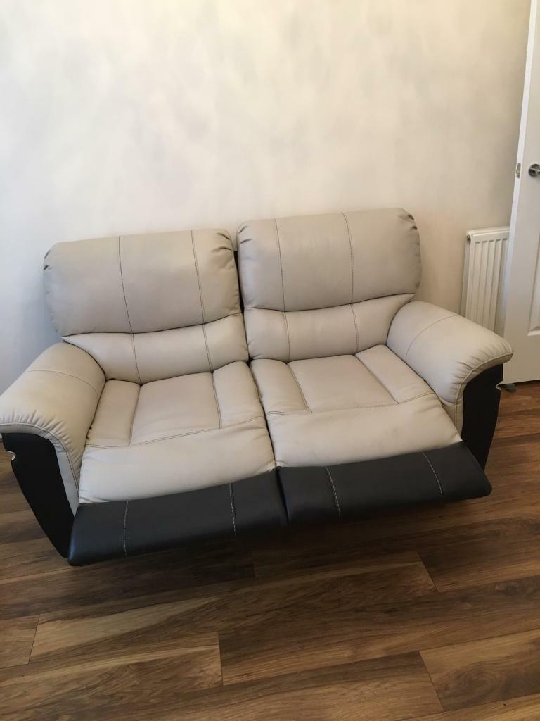 Two 2 seater recliner sofas for sale