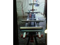 Roller bench for Carpentry, etc Excellent condition with a bench power saw 1800w in superb condition