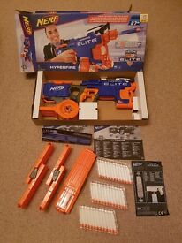 2x Nerf Hyperfire full auto guns as new still boxed