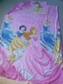 Disney Princess reversible single bed duvet cover and pillow case set