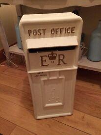 Ivory white post box