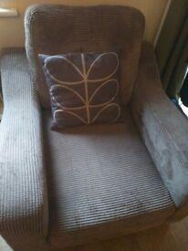 Dfs Mink coloured armchair. Very comfy. Non smoker