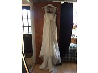 Size 10 wedding dress open to offers