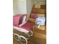 Limited addition Pink Silver Cross dolls pram