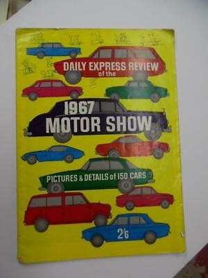 1967 Earls Court Motor Show Daily Express Review Guide Vintage British Cars BIG