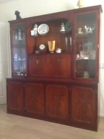 OFFERS CONSIDERED!..Solid mahogany Welsh dresser
